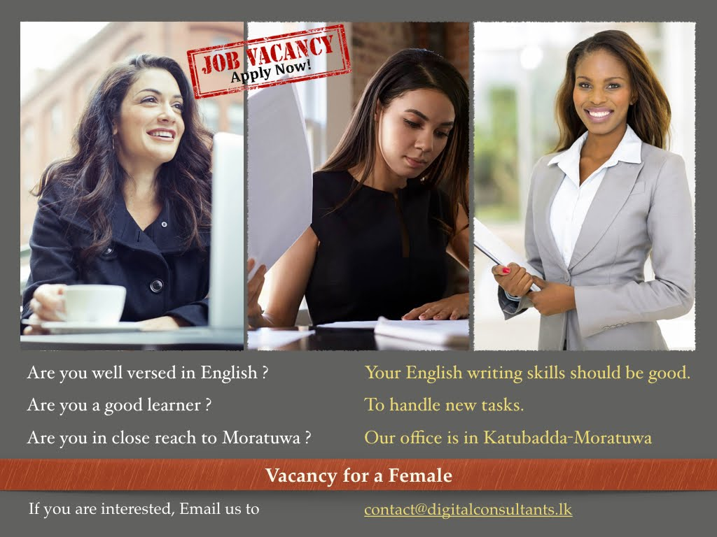 Vacancy for a Female