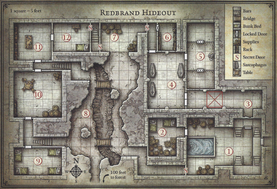 on dnd manor house map