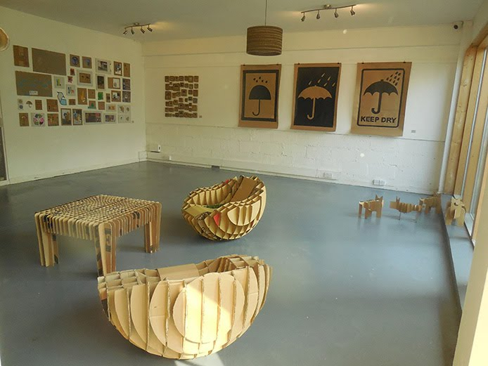 Cardboard, exhibition, lara luna bartley, hamilton house gallery