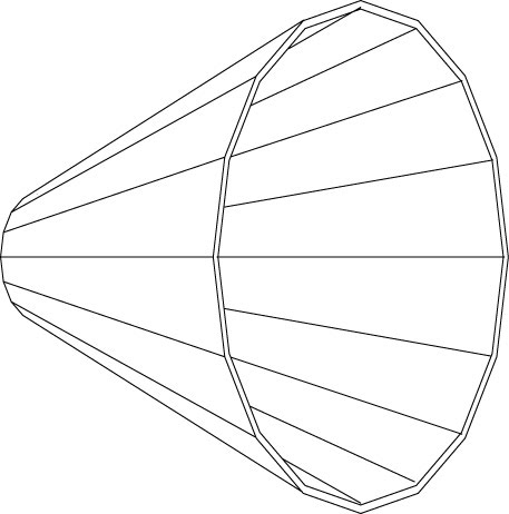 100 Hz Multi-sided Conical Midbass Horns - DIY Firefly