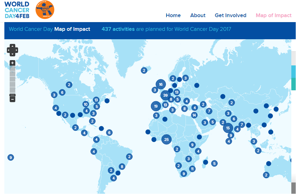 http://www.worldcancerday.org/map