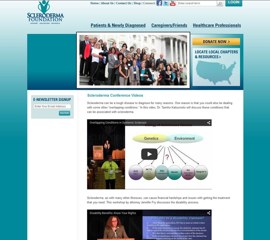 http://www.scleroderma.org/site/PageServer?pagename=body_videos#.VYkAjVJFTp0