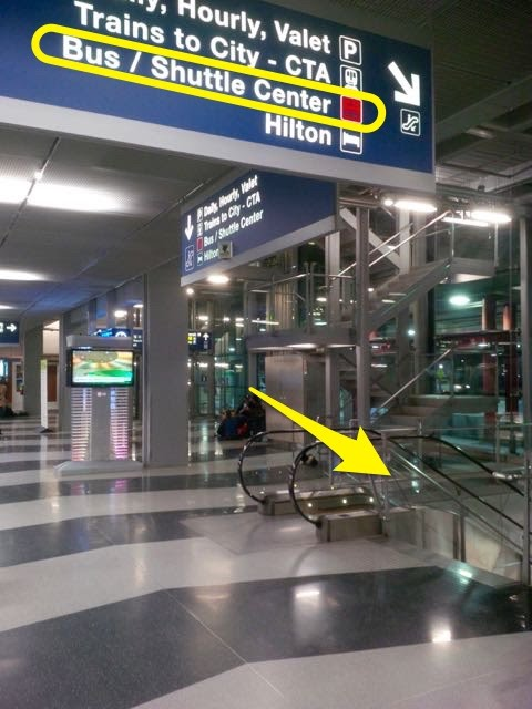 How to Get to Shuttle Center from T1 T2 T3 OHare Airport