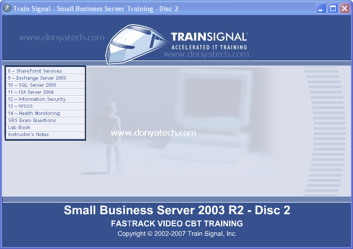 Train Signal Small Business Server 2003