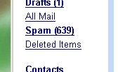Spam count in Gmail