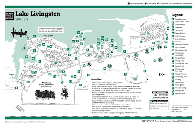 Lake Livingston State Park Map Texas   DougFam's Travels & Adventures