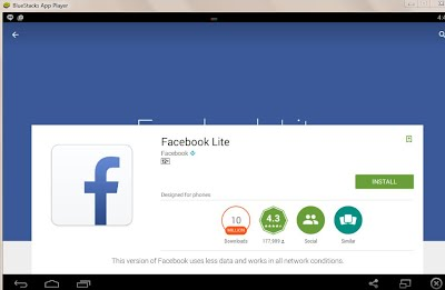 Guiding to Download Facebook lite terbaru for windows 7