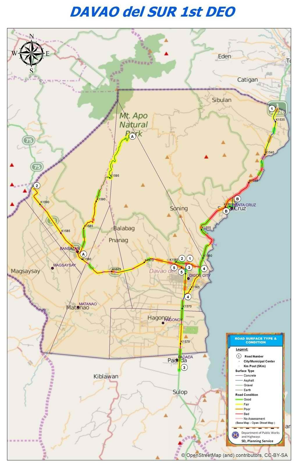 Map Davao City Map Davao del Sur 1st District   dpwhdigosplanning