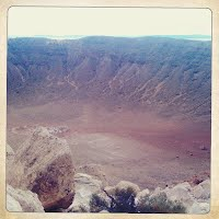Giant meteor crater in Arizona.