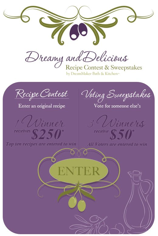 Facebook Tab Recipe Contest And Sweeps Dreammaker S Dreamy
