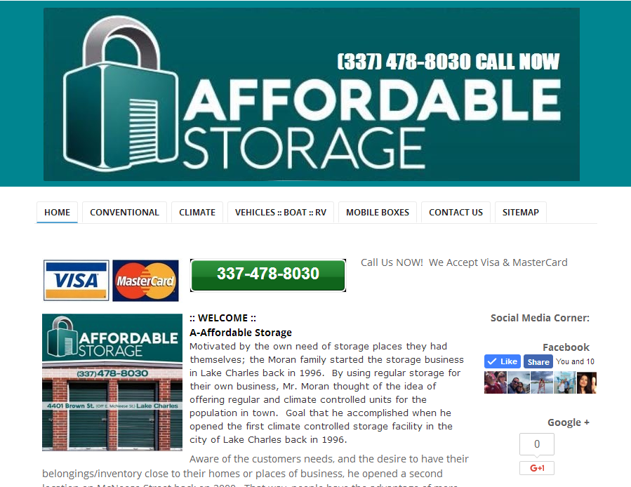 A-Affordable Storage Lake Charles