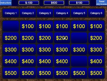Jeopardy for powerpoint medical and educational tools for Jeopardy template powerpoint 2007