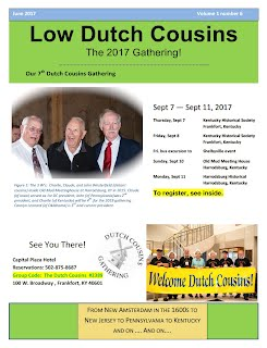 Dutch Cousins 2017 Newsletter