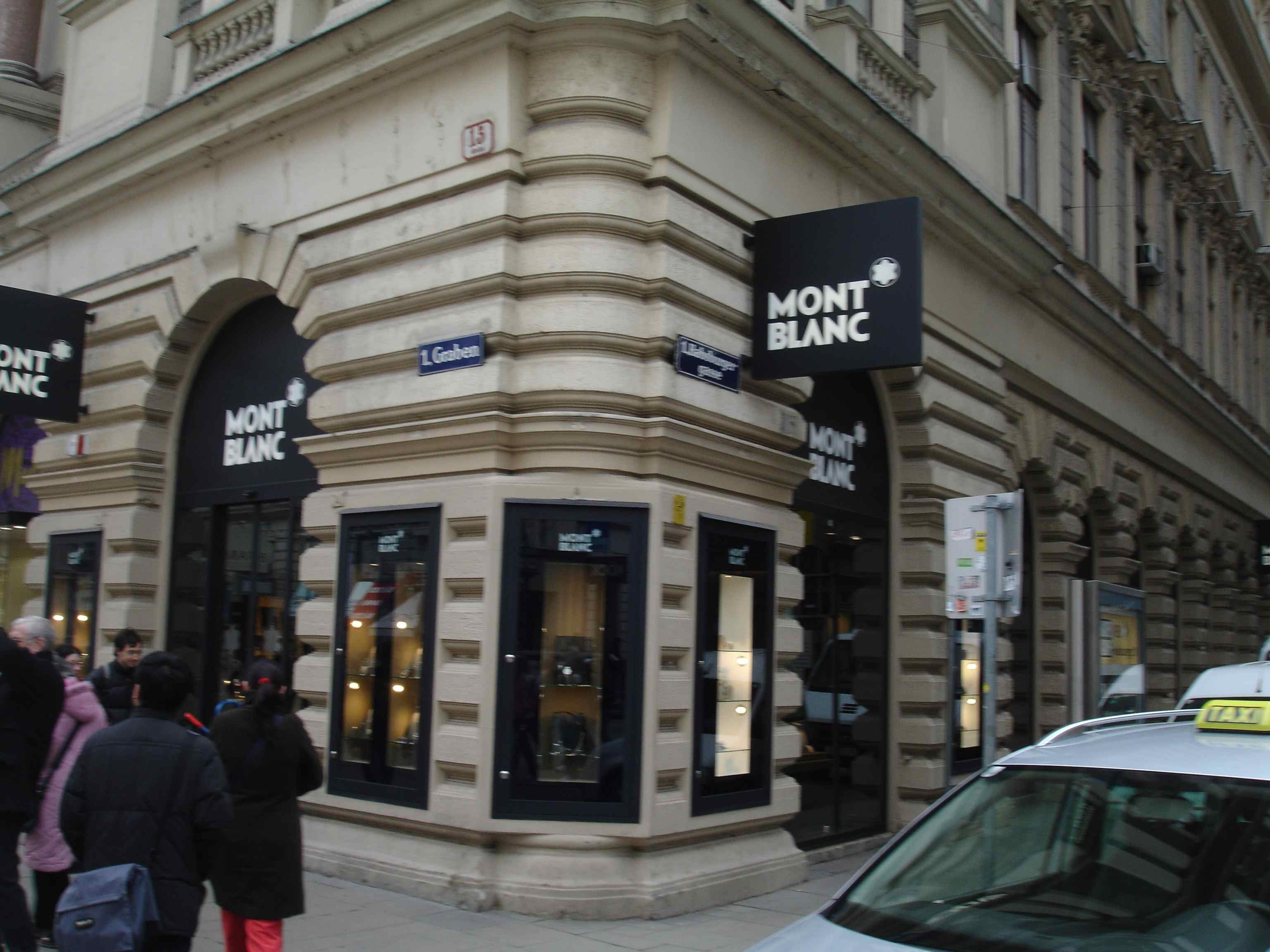 montblanc boutique in vienna montblanc the fountain. Black Bedroom Furniture Sets. Home Design Ideas