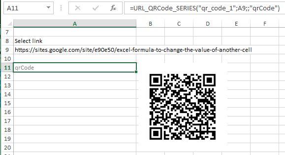 Generate QR code with google chart API using UDF in Excel - E90E50fx