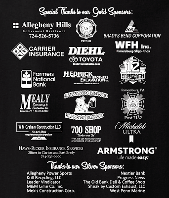 Logos and names of 2019 gold Riverfest sponsors.