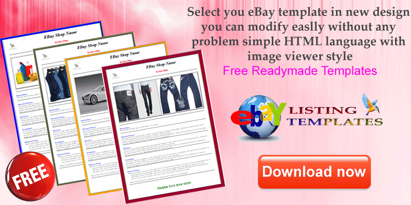 free ebay auction template and flash auction template ebay
