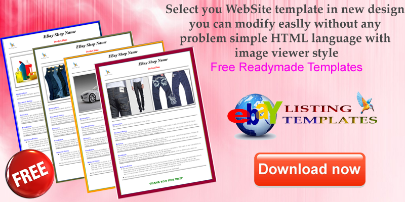 Free Templates Ebay Listing Templates - Html ebay listing template free