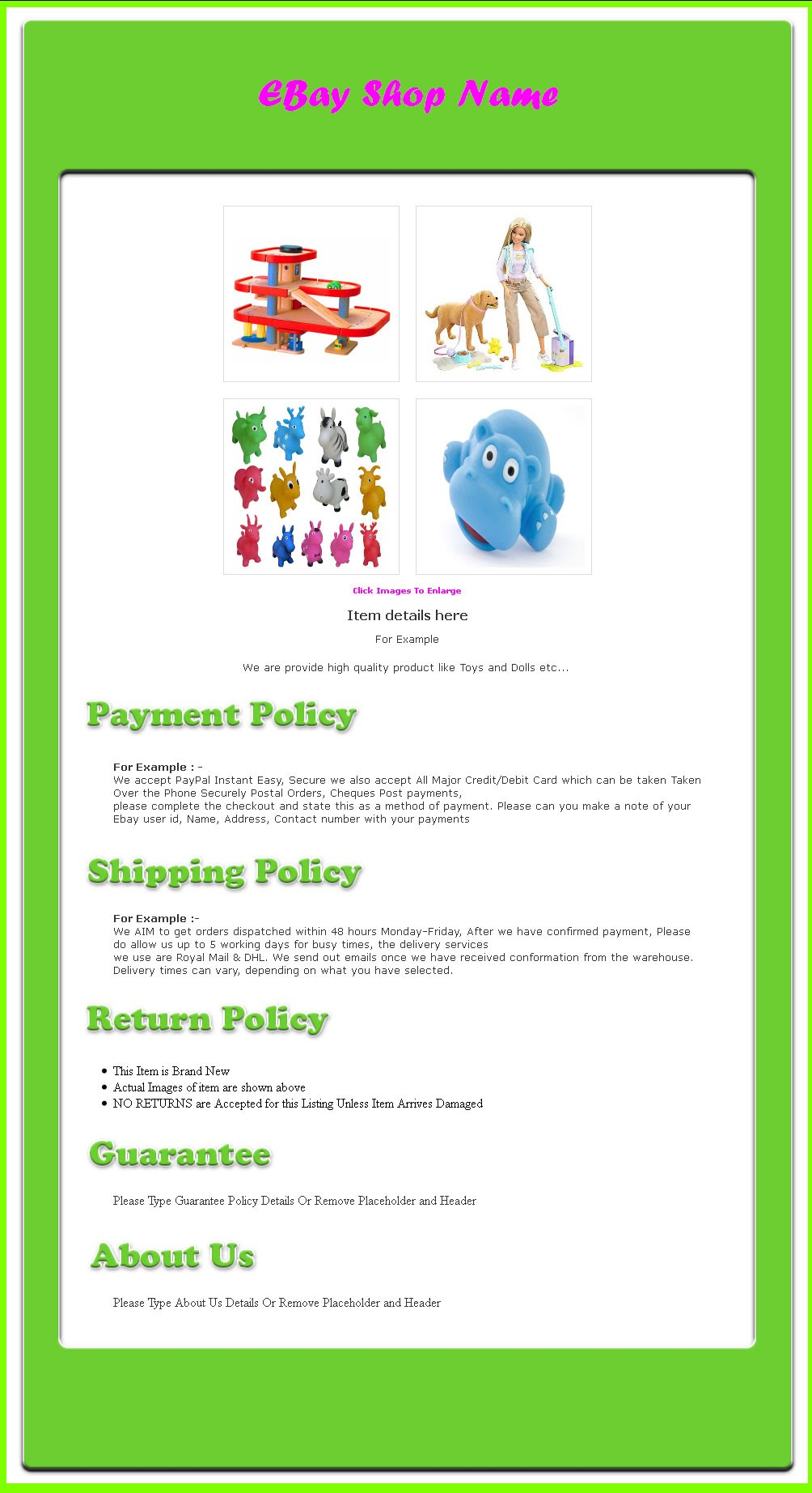 Free ebay auction template and flash auction template ebay for Free ebay templates