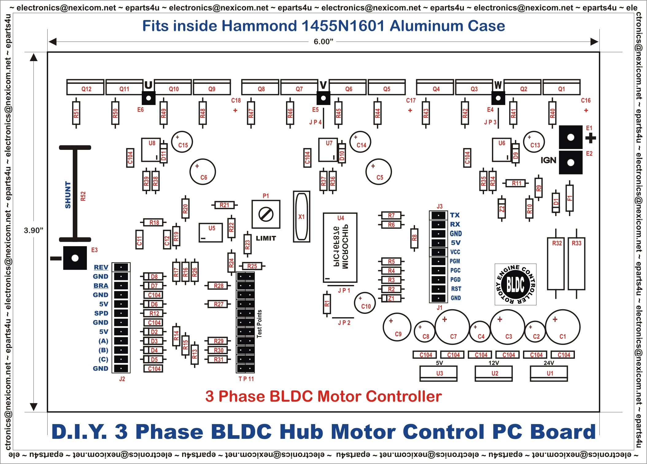 3 Phase Brushless Dc Motor Controller Diagram Wiring Schematic Electric A Threephase With Hub Circuit Connection U2022 Kit Build
