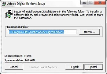 setting folder location during installation
