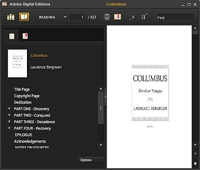Reading View in Adobe Digital Editions