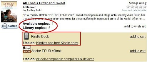 Finding Kindle ebooks in Overdrive
