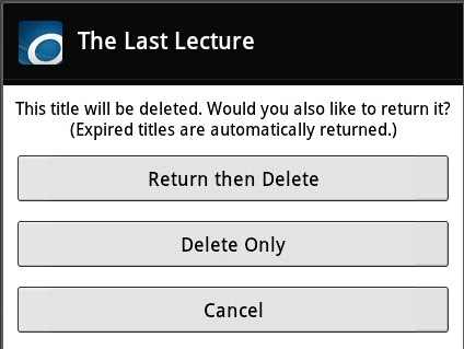 Return and delete