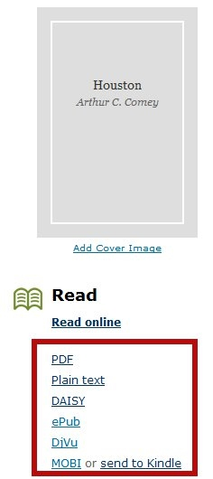 Internet Archive E-book Formats