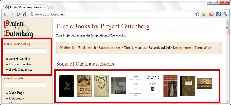 Project Gutenberg Home