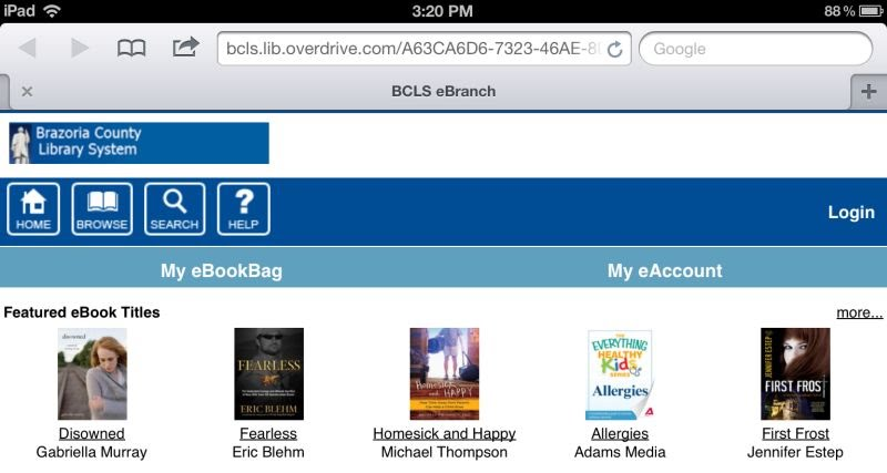 Library's OverDrive digital catalog