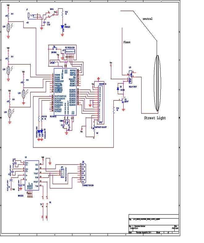Circuit diagram automatic street light control system