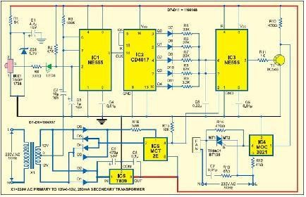 Circuit Diagram for Remote Controlled Fan Regulator ... on