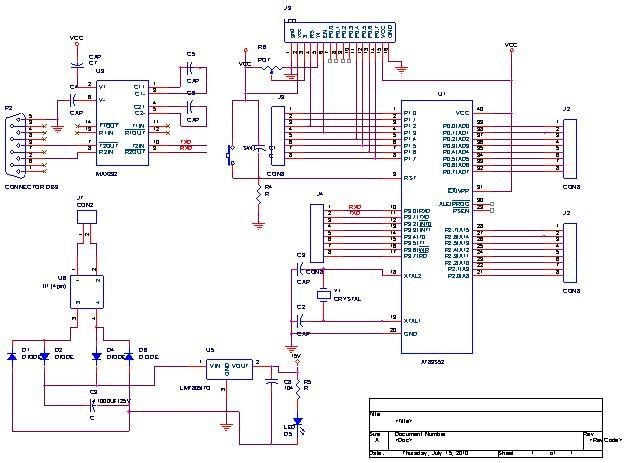 circuit diagram for density based traffic light control system