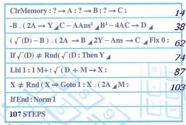 Program 1 - Quadratic Equation 二次方程