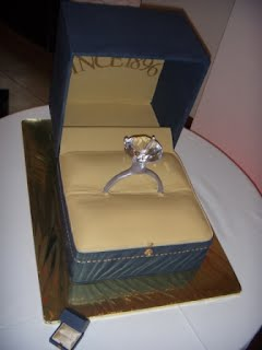 cake to look like Ring Box from Buchroeder's