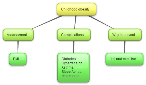 Example of a concept map for obesity Educ186nursing