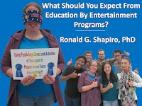 http://www.slideshare.net/DrRonShapiro/what-should-you-expect-from-education-by-entertainment-programs