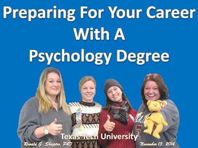 http://www.slideshare.net/DrRonShapiro/preparing-for-your-career-with-a-psychology-degree-photo-album