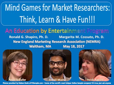 https://www.slideshare.net/DrRonShapiro/mind-games-for-market-researchers-think-learn-have-fun-new-england-marketing-research-association-nemra-waltham-ma-may-18-2017