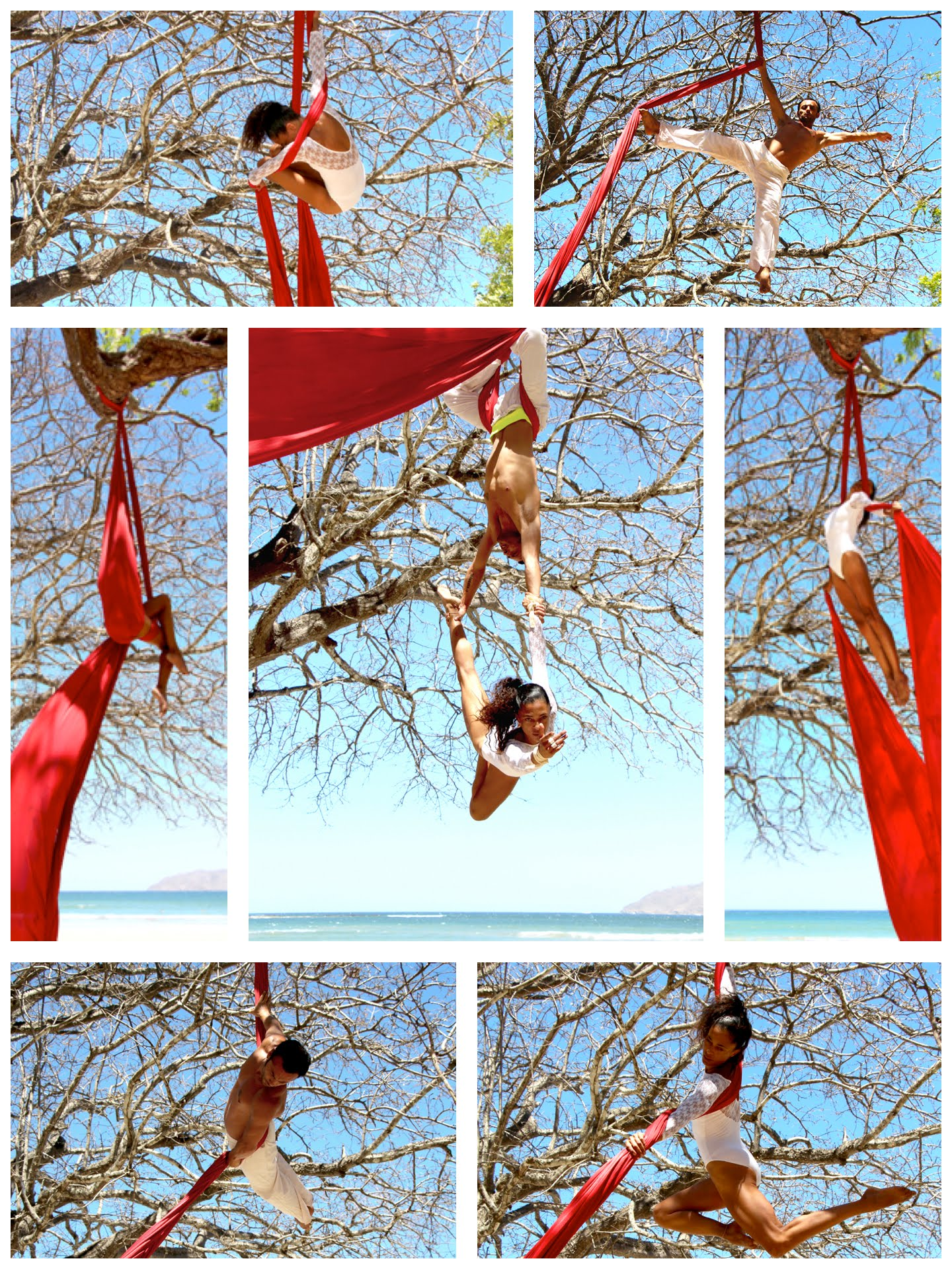 Aerial Silks with the spectacular Isabelle Vandevelde...