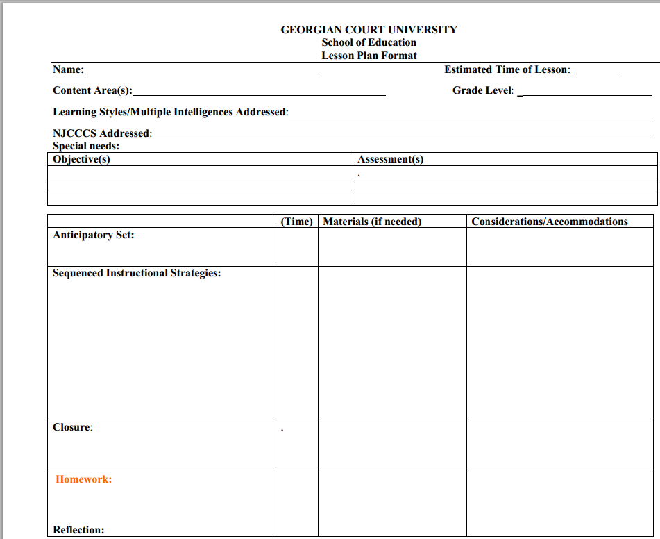 Sample lesson plan formats for collaboration for Cooperative learning lesson plan template