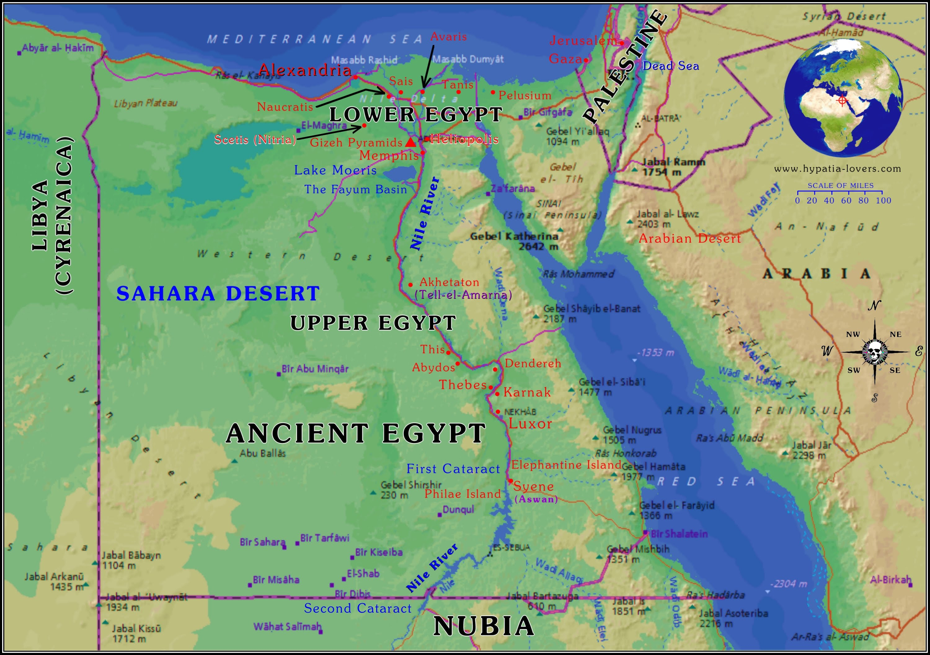 Nomadic Invaders Rule Egypt And The Empire Declines Egyptian And - Map of egypt nubian desert