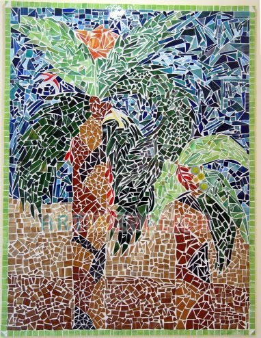 art activities glass tile mosaic art project for adults