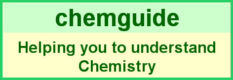 Chemguide elearning chemistry 3 chemguide helping you to understand chemistry main menu urtaz Choice Image