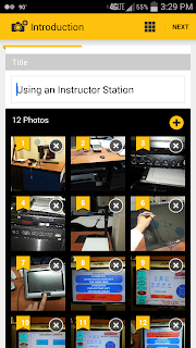 screenshot of instructables phone application with photo library