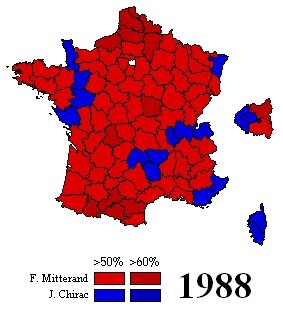 France Electioncartography - 1988 us electoral map
