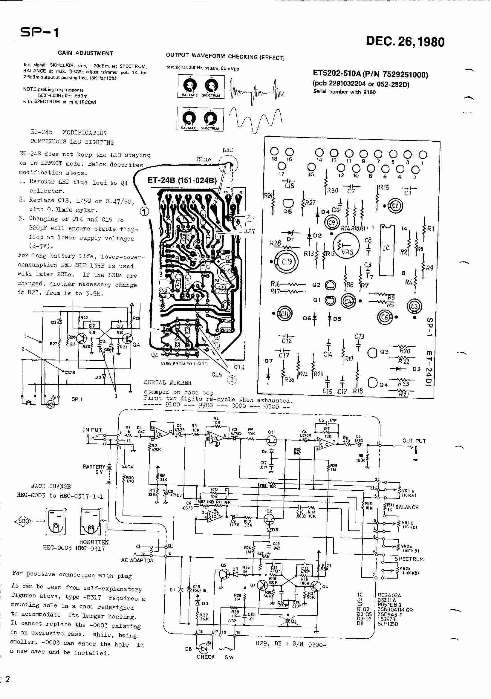 Schematics Electroconducive Wah Pedal Wiring Diagram Boss Sp 1