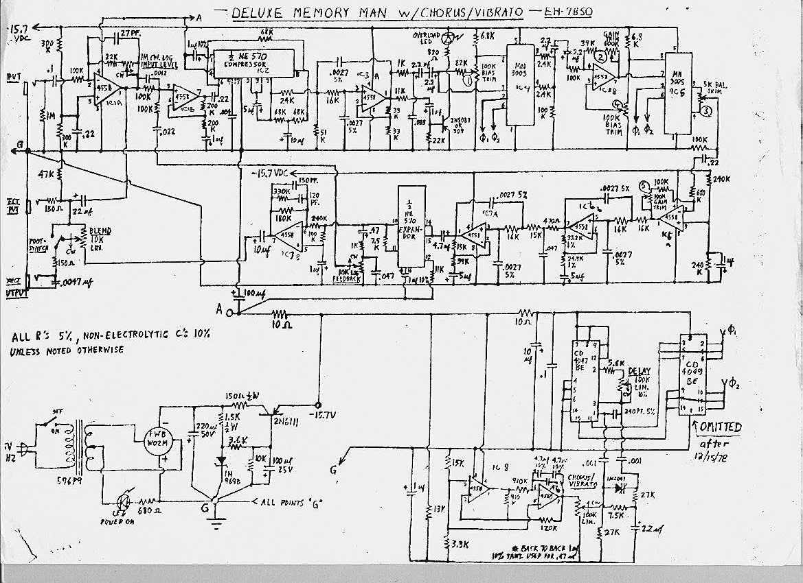 memory schematic vintage deluxe memory man repair has me a bit stumped
