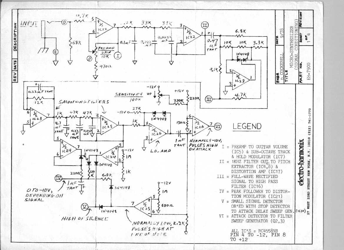 Schematics Electroconducive Synthesizer Wiring Diagram Ehx Microsynth Pg1 Factory Eh 7900